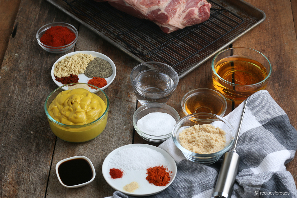 Ingredients for injection for smoked pork butt