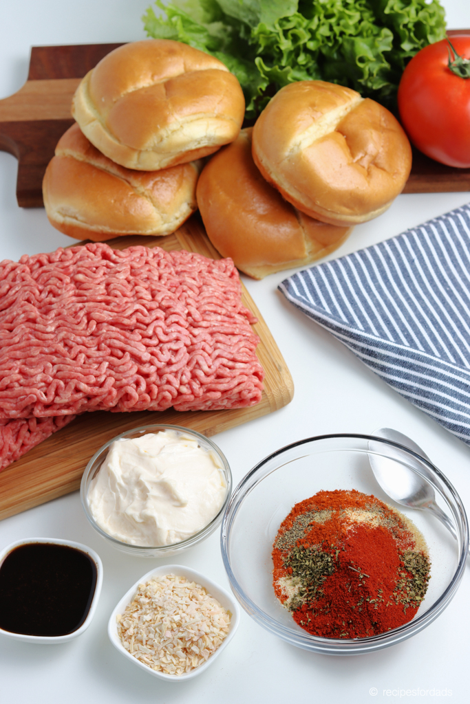 Best Burger Recipe always includes mayonnaise!