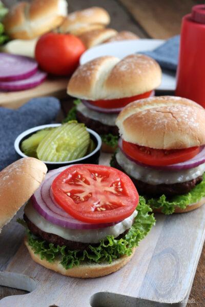 juicy smoked burgers